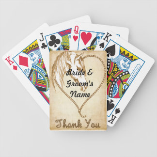 Western Wedding deck of Playing Cards Favors