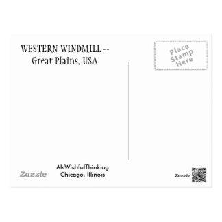 Western Windmill Postcard