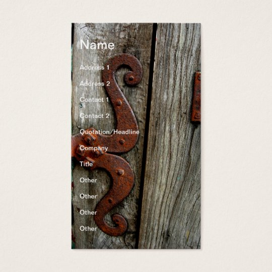 Western Wood Grain Old Hinge Business Card Art