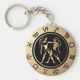 Western Zodiac - Gemini Key Ring