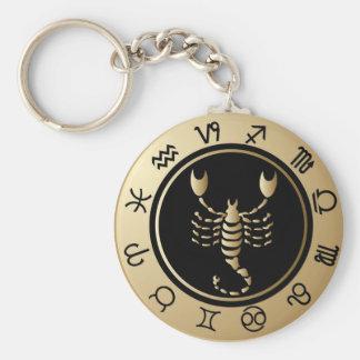Western Zodiac - Scorpio Key Ring