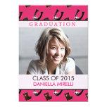 WesternPhoto Graduation Announcement Hot Pink 13 Cm X 18 Cm Invitation Card