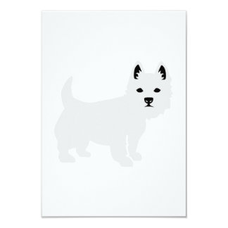 Westie 9 Cm X 13 Cm Invitation Card