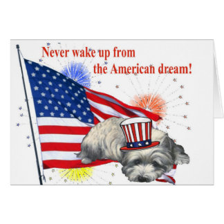 Westie – American Dream Greeting Card