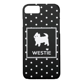 Westie and Polka Dots iPhone 7 Case