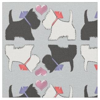 Westie and Scottie Dog Art Fabric