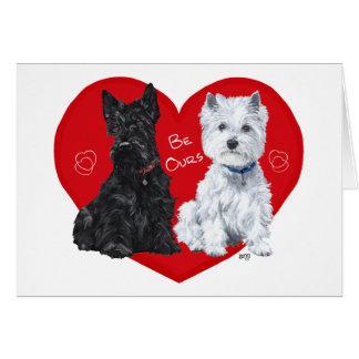 Westie and Scottie Valentine Greeting Card