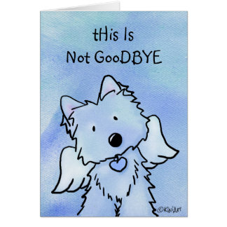 Westie Angel Pet Loss Sympathy Card
