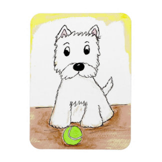 WESTIE ART MAGNET CUTE BIRTHDAY PRESENT