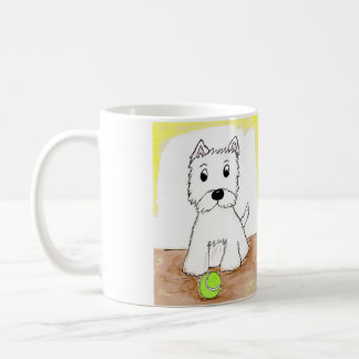 WESTIE ART MUG BIRTHDAY PRESENT DOG