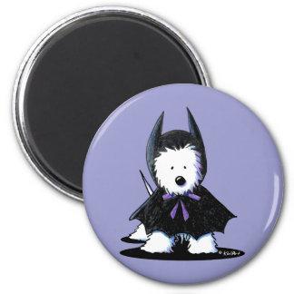 Westie Batdog 6 Cm Round Magnet