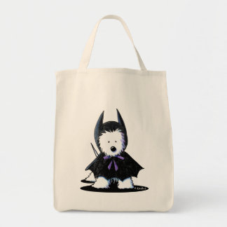 Westie Batdog Canvas Bag