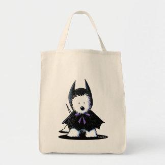 Westie Batdog Grocery Tote Bag