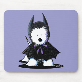 Westie Batdog Mousepads