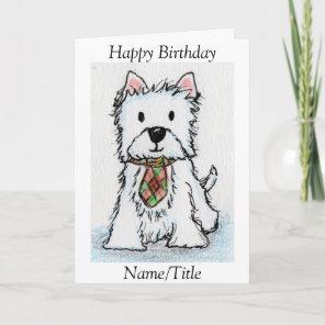 Westie Birthday greeting card friend husband
