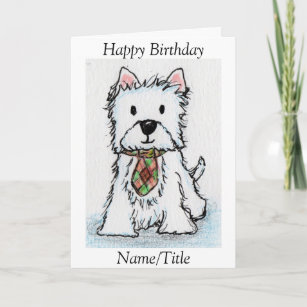 Westie Birthday Greeting Card Friend Husband
