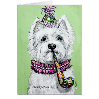 Westie Birthday Party Card
