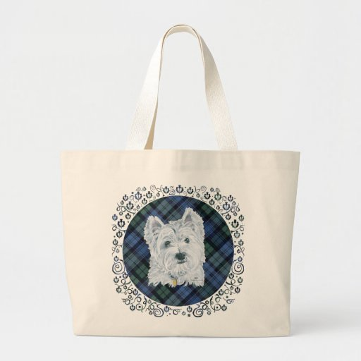 Westie Black Watch Tartan Bag