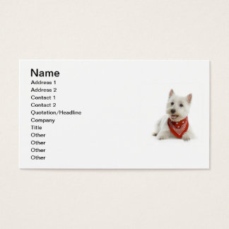 Westie Business Card