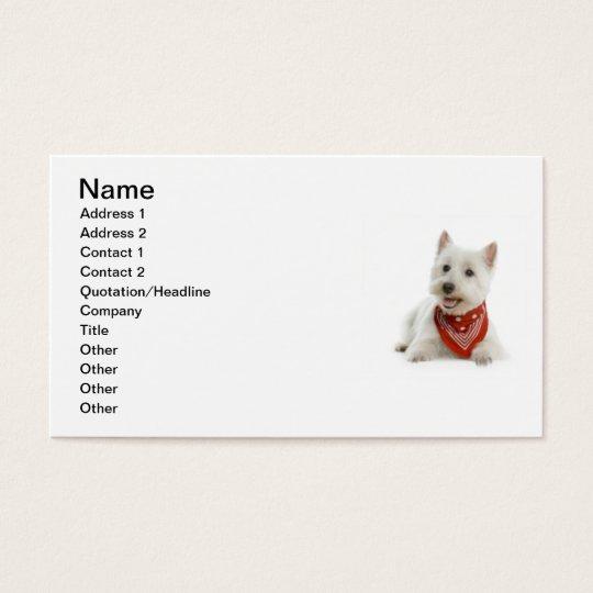 Westie Business Card