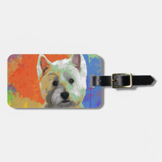 WESTIE CELEBRATION LUGGAGE TAG