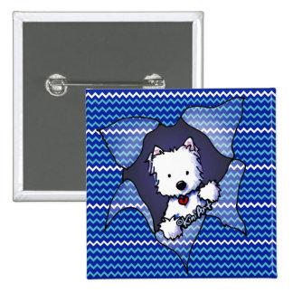 Westie Chevron Blast 15 Cm Square Badge