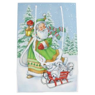 """Westie Christmas Gift Bag """"Joyful Noise"""" by Borgo"""