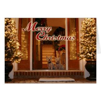 Westie Christmas Greeting Card