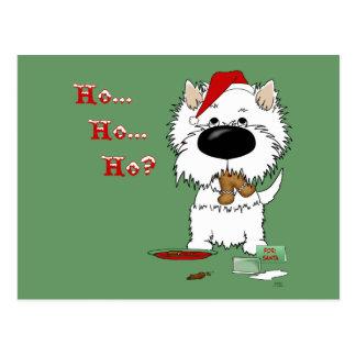 Westie Christmas - Ho Ho Ho??? Postcard