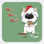 Westie Christmas - Ho Ho Ho??? Stickers
