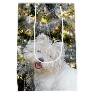 Westie Christmas Medium Gift Bag