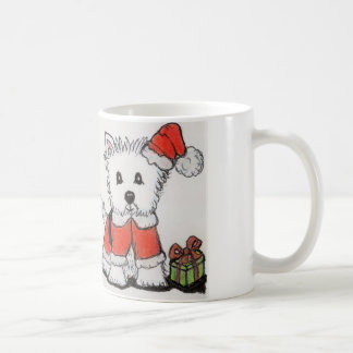 WESTIE CHRISTMAS MUG Mum Dad Nana Daughter Son