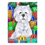 Westie Christmas Open Gifts Custom Announcements