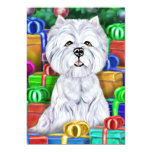 Westie Christmas Open Gifts 13 Cm X 18 Cm Invitation Card