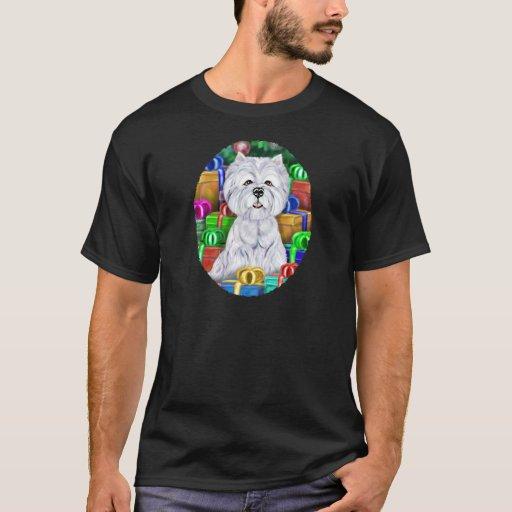 Westie Christmas Open Gifts T-Shirt