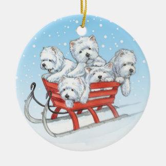 Westie Christmas Ornament by Borgo
