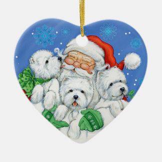 "Westie Christmas Ornament ""XOXO"" by Borgo"