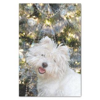 Westie Christmas Tissue Paper