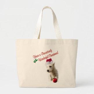 Westie Christmas Wishes Jumbo Tote Bag