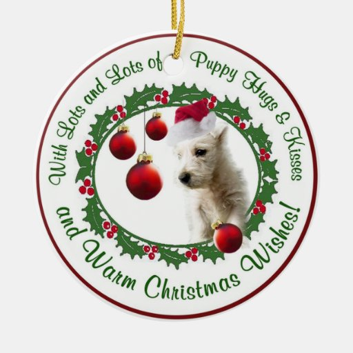 Westie Christmas Wishes Ornament