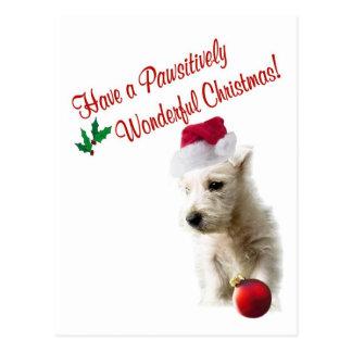 Westie Christmas Wishes Postcard