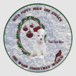 Westie Christmas Wishes Stickers – Customise Them!