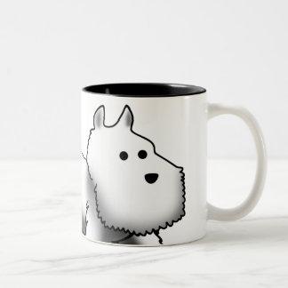Westie Closeup Two-Tone Coffee Mug