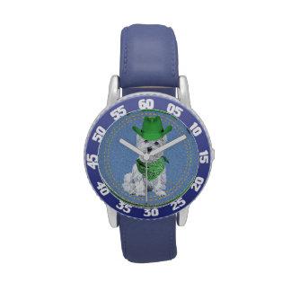 Westie Cowboy Wrist Watch
