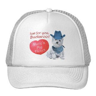 Westie Cowboy Valentine Hat