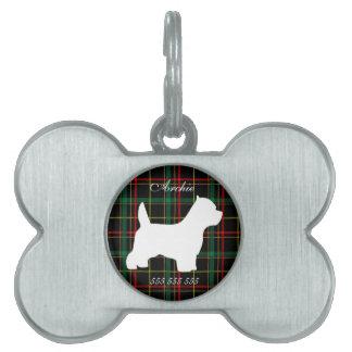 Westie custom name & phone no. pet dog id tag