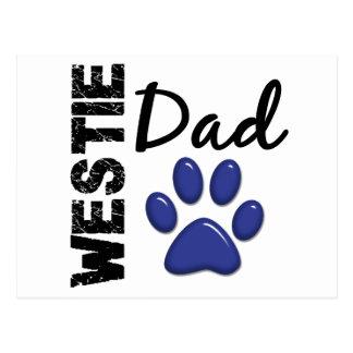 Westie Dad 2 Postcard