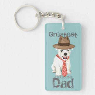 Westie Dad Key Ring