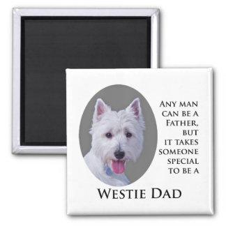 Westie Dad Magnet Fridge Magnet