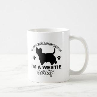Westie daddy dog designs coffee mug